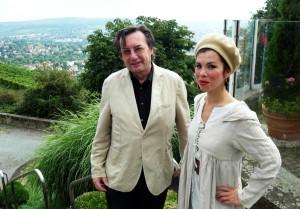 Günther Emig und Eunike Yumika Engelkind anlässlich Goethes 264.